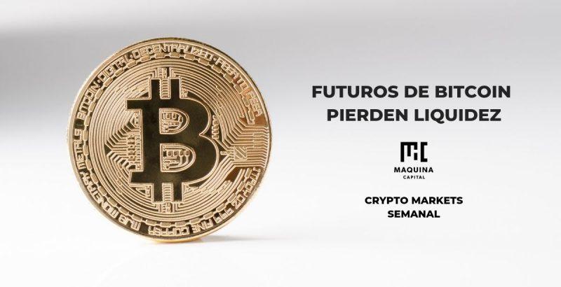 Futuros de bitcoin pierden liquidez