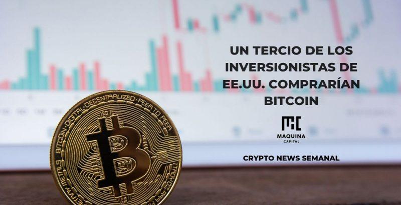 Un tercio de inversionistas de EE.UU. comprarían bitcoin