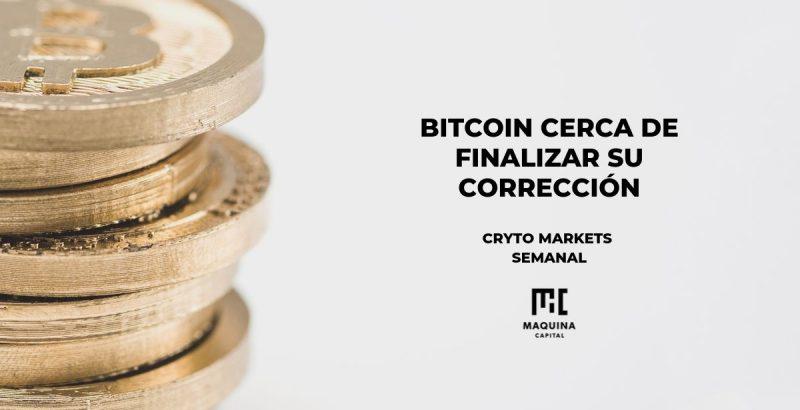 Bitcoin cerca de finalizar su correccion