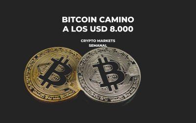 BITCOIN CAMINO A LOS USD 8000