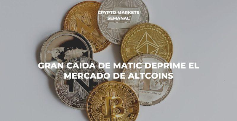 Gran caída de Matic deprime el mercado de altcoins